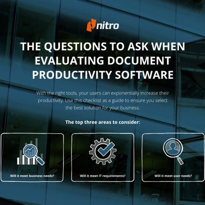 9 Questions to Ask When Evaluating Document Productivity Software