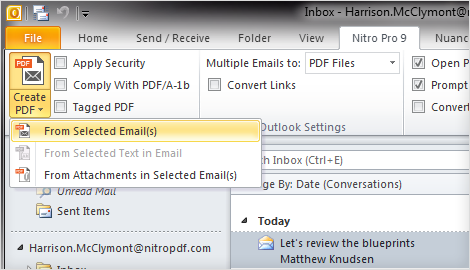 How to Use Nitro Pro's Outlook Plugin | Nitro Video